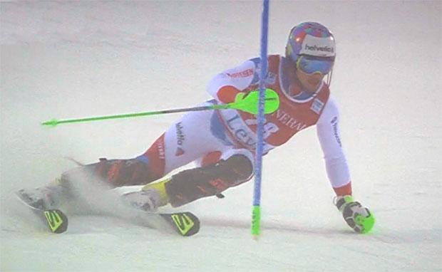 Luca Aerni belegt als bester Schweizer im Slalom von Levi Rang acht