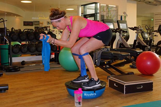 Lisa Magdalena Agerer konzentriert und motiviert auf dem Weg zuück (Foto: Gerhard Agerer)