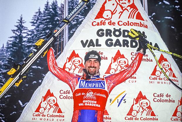"""In der Saison 1996/97 holte sich Luc Alphand als erster """"reiner Speedspezialist"""" den Gesamtweltcup, aber auch die kleinen Kristallkugeln in der Abfahrt und im Super-G. (Foto: gpsperformance)"""