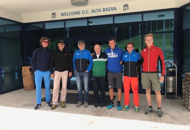 Markus Waldner und die FIS begutachten die Gran Risa (Foto:  Audi FIS Ski World Cup Alta Badia / Facebook)