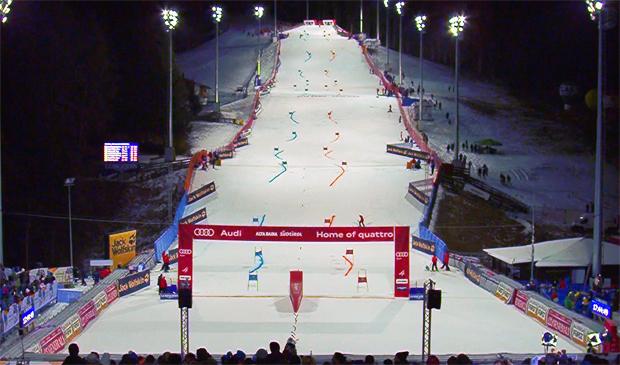 Audi FIS Ski World Cup in Alta Badia: Kopf an Kopf die Gran Risa hinunter