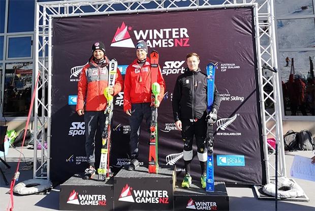 Fabio Gstrein gewinnt 2. ANC-Slalom in Coronet Peak. (© Fabio Gstrein / Facebook)