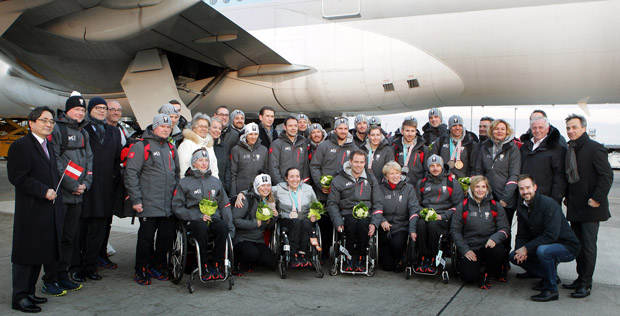 © ÖPC/Diener: Willkommen daheim: Großer Empfang für das Paralympic Team Austria
