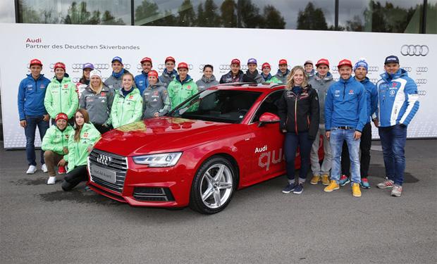 © AUDI AG   / DSV-Athleten starten mit Audi in die Skisaison