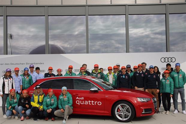 DSV-Mannschaft und Audi bereit für gemeinsame Skisaison (Foto: Skiweltcup.TV / Walter Schmid)