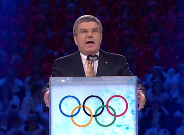 IOC-Präsident Thomas Bach verkündet, Peking ist Austragungsort der Olympischen Winterspiele 2022