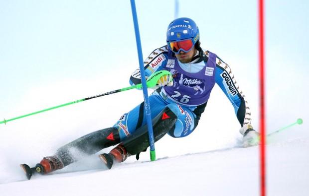 © Kraft Foods  /  Axel Baeck (SWE) gewann im Vorjahr den Slalom von Obereggen