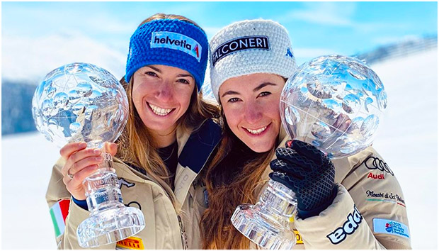 Marta Bassino und Sofia Goggia sind die Stars beim Trento Sport Festival (Foto: © Marta Bassino / Instagram)