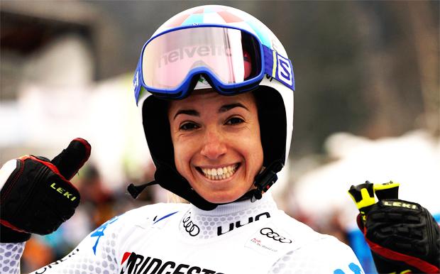 Marta Bassino blickt zufrieden auf das Training am Stilfser Joch zurück (Foto: Archivo FISI/Gio Auletta/Pentaphoto)
