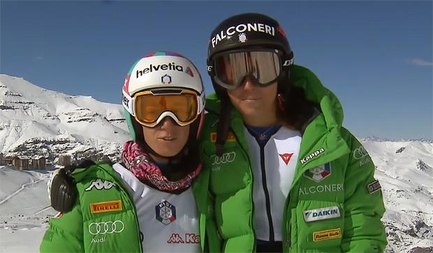 © fisi.org / Marta Bassino und Sofia Goggia haben viel Spaß in Chile