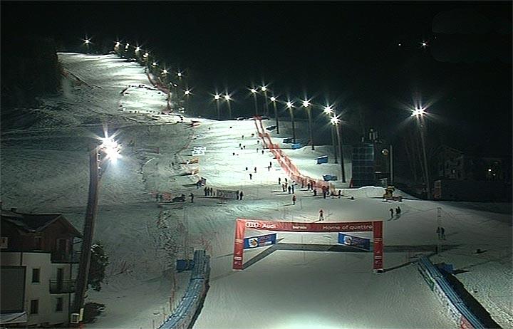 Bormio ist bereit für die Slalomrennen