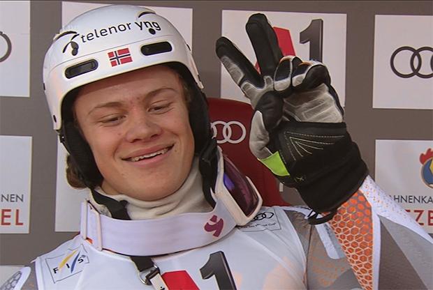 Lucas Braathen übernimmt am Ganslernhang Führung nach dem 1. Durchgang