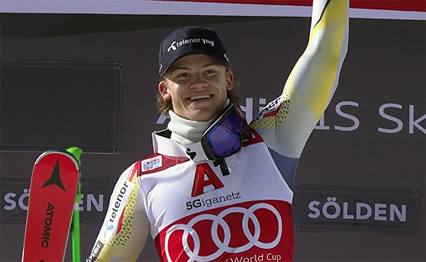 Lucas Braathen düpiert mit Riesenslalom-Sieg in Sölden die Konkurrenz