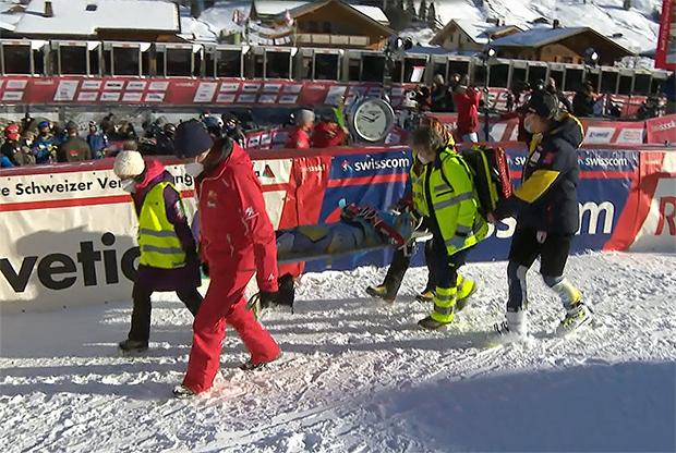 Der böse Sturz von Lucas Braathen in Adelboden, zerstört den Traum von der Ski-WM 2021