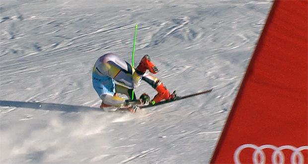 Der böse Sturz von Lucas Braathen, zerstört den Traum von der Ski-WM 2021