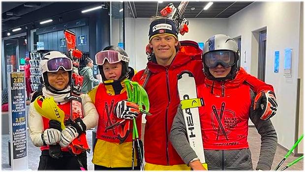 Lucas Braathen freut sich bereits auf sein Jugendcamp im Jahres 2022 (Foto: © Bærums Skiklub Alpint)