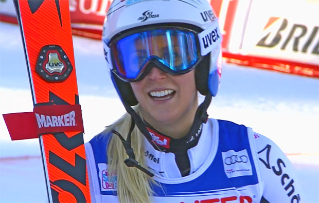 Eva-Maria Brem gewinnt Riesenslalom in Courchevel