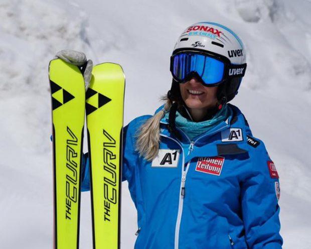 Eva-Maria Brem aus Tirol fuhr für Völkl ihre großen Erfolge ein und möchte nach einer langen Verletzungspause auf Fischer an ihre Leistungen anknüpfen. (Foto: Facebook / Eva-Maria Brem)