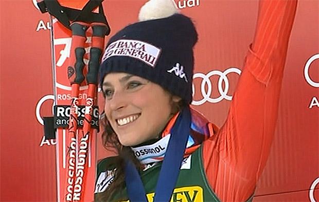 Frederica Brignone freute sich über Platz 3 in Aspen