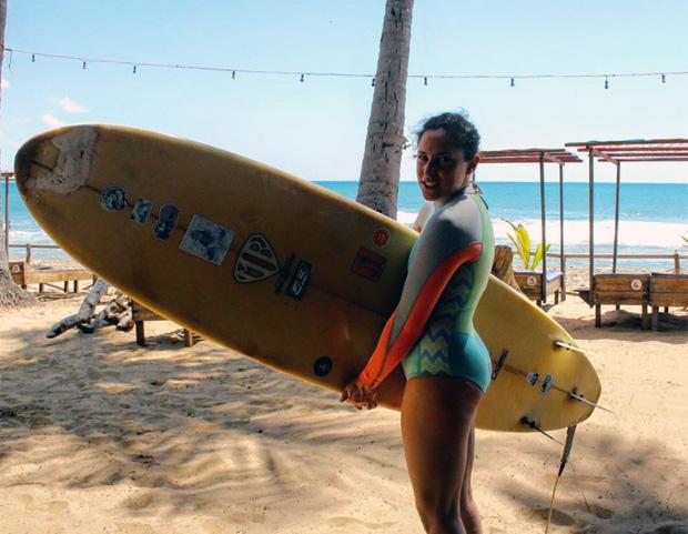 Federica Brignone ist noch mit dem Surfbrett unterwegs (Foto: Facebook / Federica Brignone)