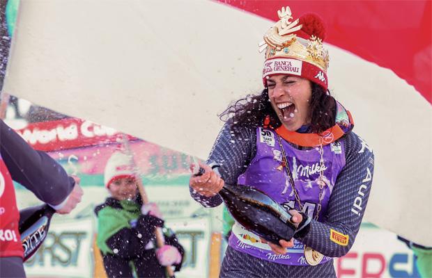 """© Kraft Foods / Federica  Brignone  ist  die  erste  """"Princess  of Kronplatz"""""""