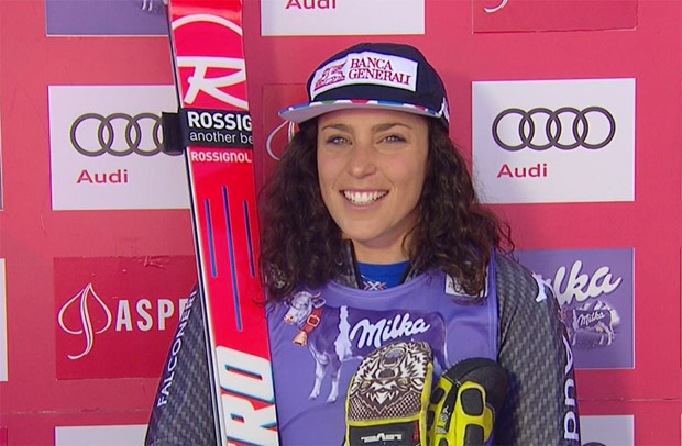 Federica Brignone dominiert ersten Riesenslalom Durchgang in Aspen
