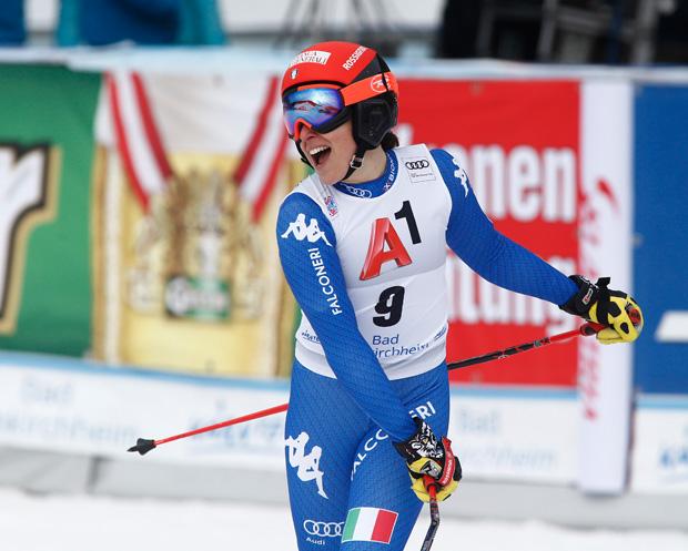 © Archivio FISI /  Federica Brignone widmete ihren Sieg ihrer derzeit nicht aktiven Teamkollegin Elena Fanchini.