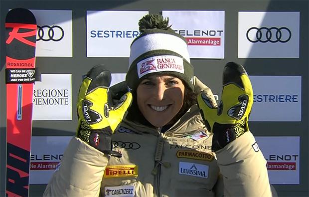 Federica Brignone übernimmt Führung beim Riesenslalom in Sestriere