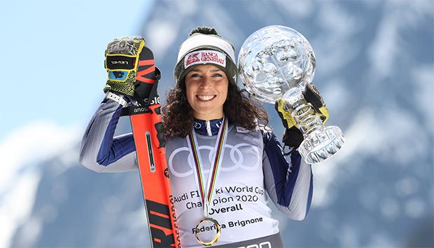 La Thuile feiert Gesamtweltcupsiegerin Federica Brignone (Foto: © Archivio FISI Alessandro Trovati - Pentaphoto)