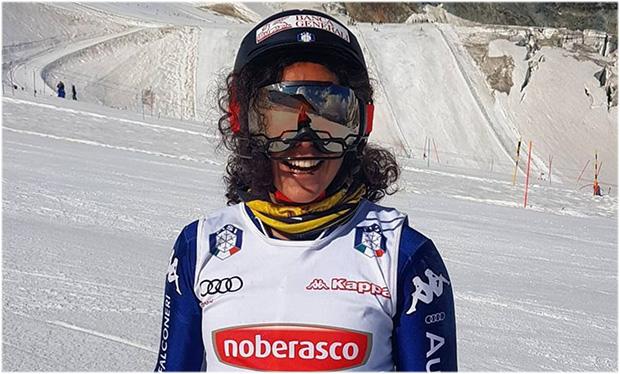 Nicht nur wegen Federica Brignone färben sich die Skipisten in Zermatt azurblau (Foto: © Federica Brignone / Instagram)