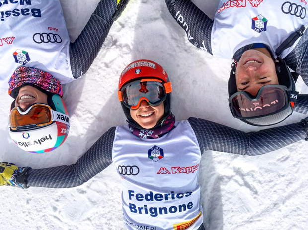 Marta Bassino, Federica Brignone und Sofia Goggia (Foto: Federica Brignone / Facebook)