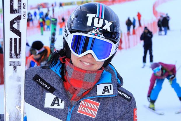 © Gerwig Löffelholz  /  Stephanie Brunner gewinnt EC-Riesentorlauf in Trysil