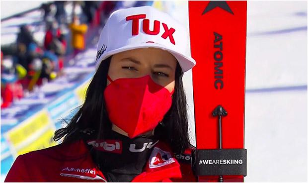 Stephanie Brunner hat sich beim Slalomtraining in Åre eine Bänderverletzung am Knöchel zugezogen.