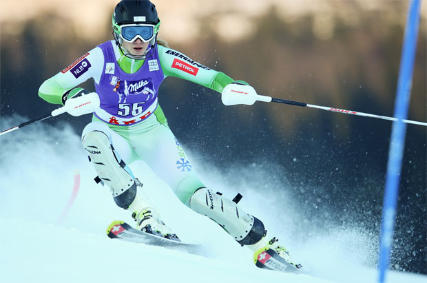 © Kraft Foods  /  Slowenin Ana Bucik gewinnt EC-Slalom von Zinal