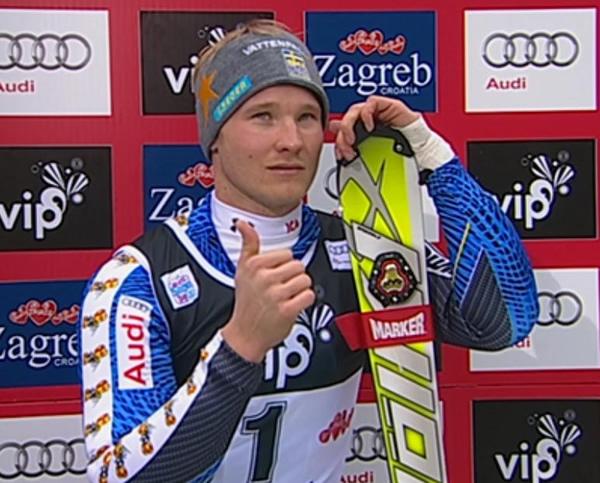 Jens Byggmark führt beim Slalom in Zagreb