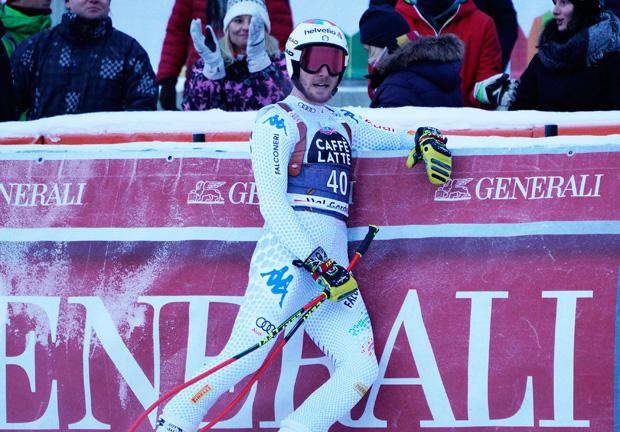 © Archivio FISI / Mattia Casse gewinnt erste Europacup-Abfahrt auf dem Lauberhorn (Foto: Gio Auletta /Pentaphoto)