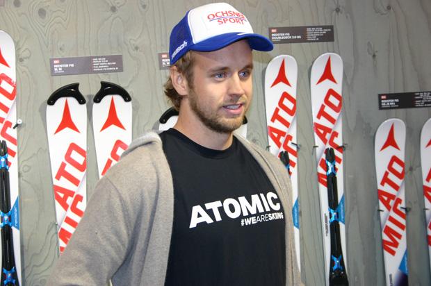 """Mauro Caviezel im Skiweltcup.TV-Interview: """"Gino und ich profitieren von den Erfahrungen des anderen."""" (Foto: Walter Schmid / Skiweltcup.TV)"""