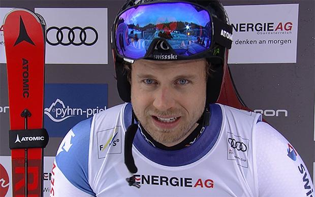 Swiss-Ski-Athlet Mauro Caviezel macht das Beste aus der Situation