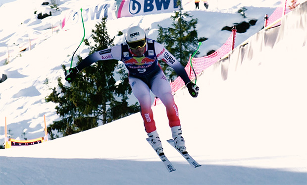 Franzose Johan Clarey mit Bestzeit beim 2. Abfahrtstraining in Kitzbühel