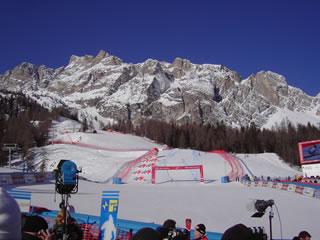 Die Skifans freuen sich auf traumhaftes Wetter in Cortina