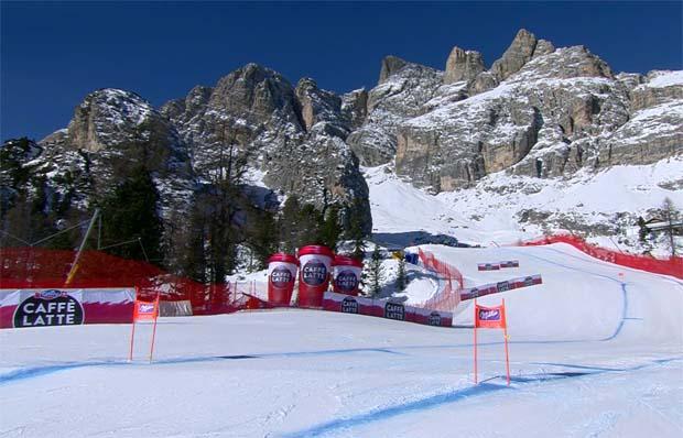 ..... und auch für die Speedrennen in Cortina d'Ampezzo