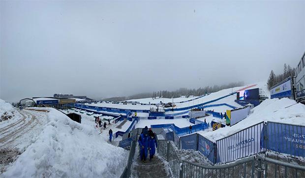 Ski WM 2021: Programmänderung für die Alpine Kombination der Damen (Foto: © Fondazione Cortina 2021)