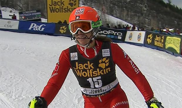 Chiara Costazza war beim Sieg von Nicole Hosp aus Österreich die beste der Squadra Azzurra.