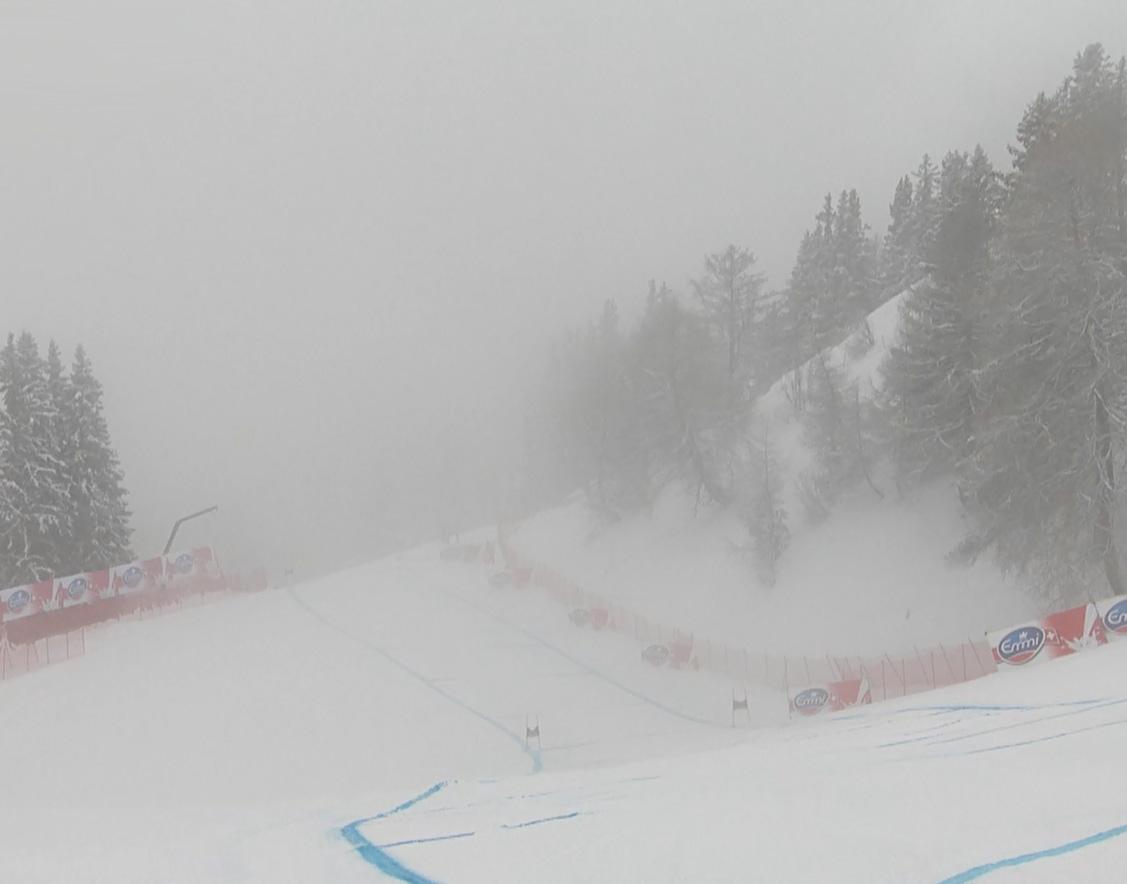 Crans Montana im Nebel