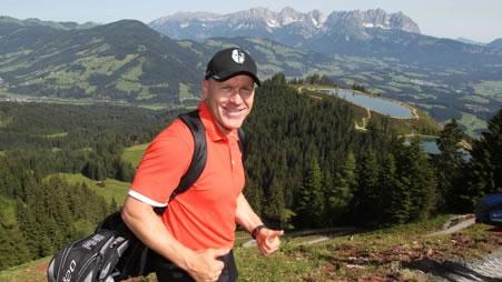 © AUDI: Herrliches Alpenpanorama: Didier Cuche war begeistert