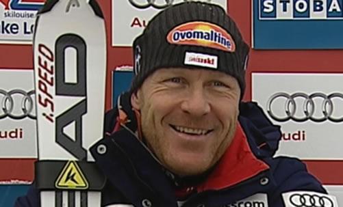 Didier Cuche mit Bestzeit beim Abfahrtstraining in Chamonix