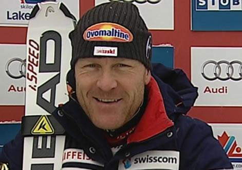 Titelverteidiger Didier Cuche - Beim 1. Abfahrtstraining in Kitzbühel Dritter