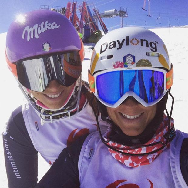 Elena und Irene Curtoni in Les Deux Alpes (Foto: Facebook / Irene Curtoni)