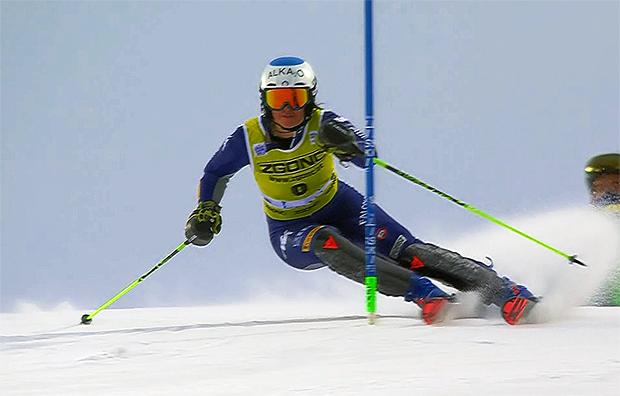 Irene Curtoni führt die italienischen Slalom-Damen in Flachau an