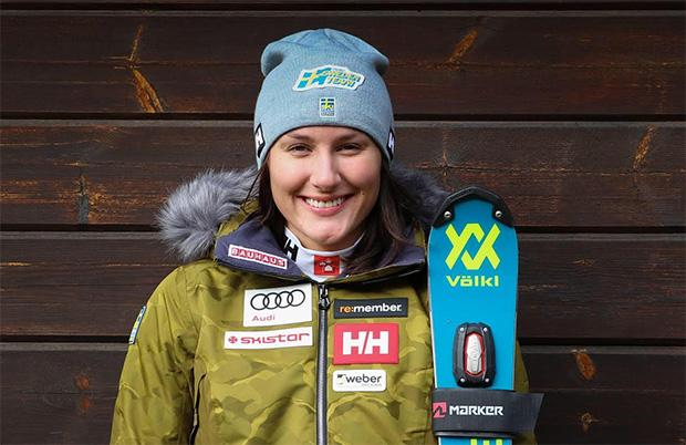 Auch Ida Dannewitz trainiert intensiv in Saas-Fee (Foto: © Völkl/Marker)